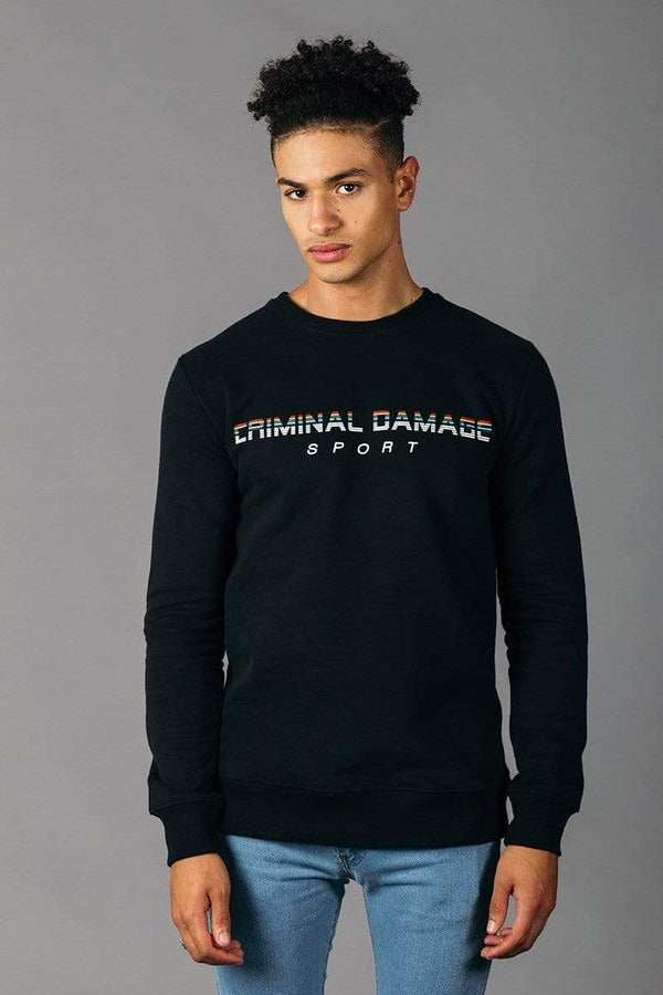 Criminal Damage SWEATSHIRT Guten tag Sweat - Black/Multi