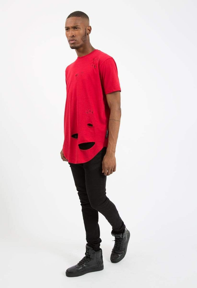 Criminal Damage SWEATSHIRT Shoreditch Tee - Red