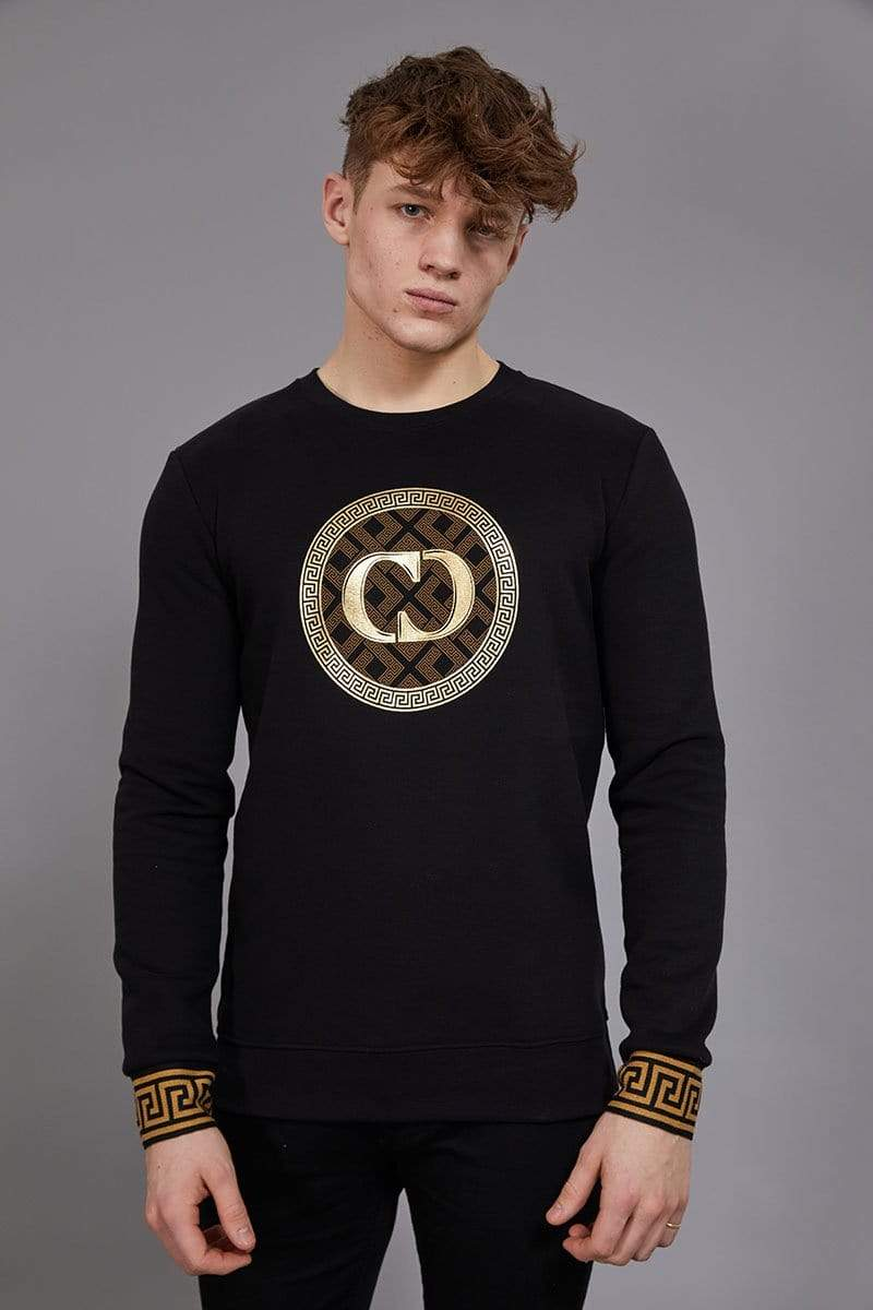 Criminal Damage SWEATSHIRT Verino Sweatshirt - Black/Gold