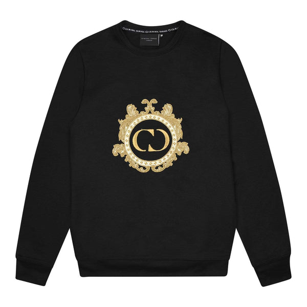 Criminal Damage SWEATSHIRT Wise Sweat - Black