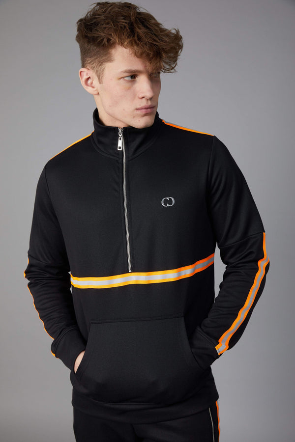 Wise Track Top - Black / Reflective Orange