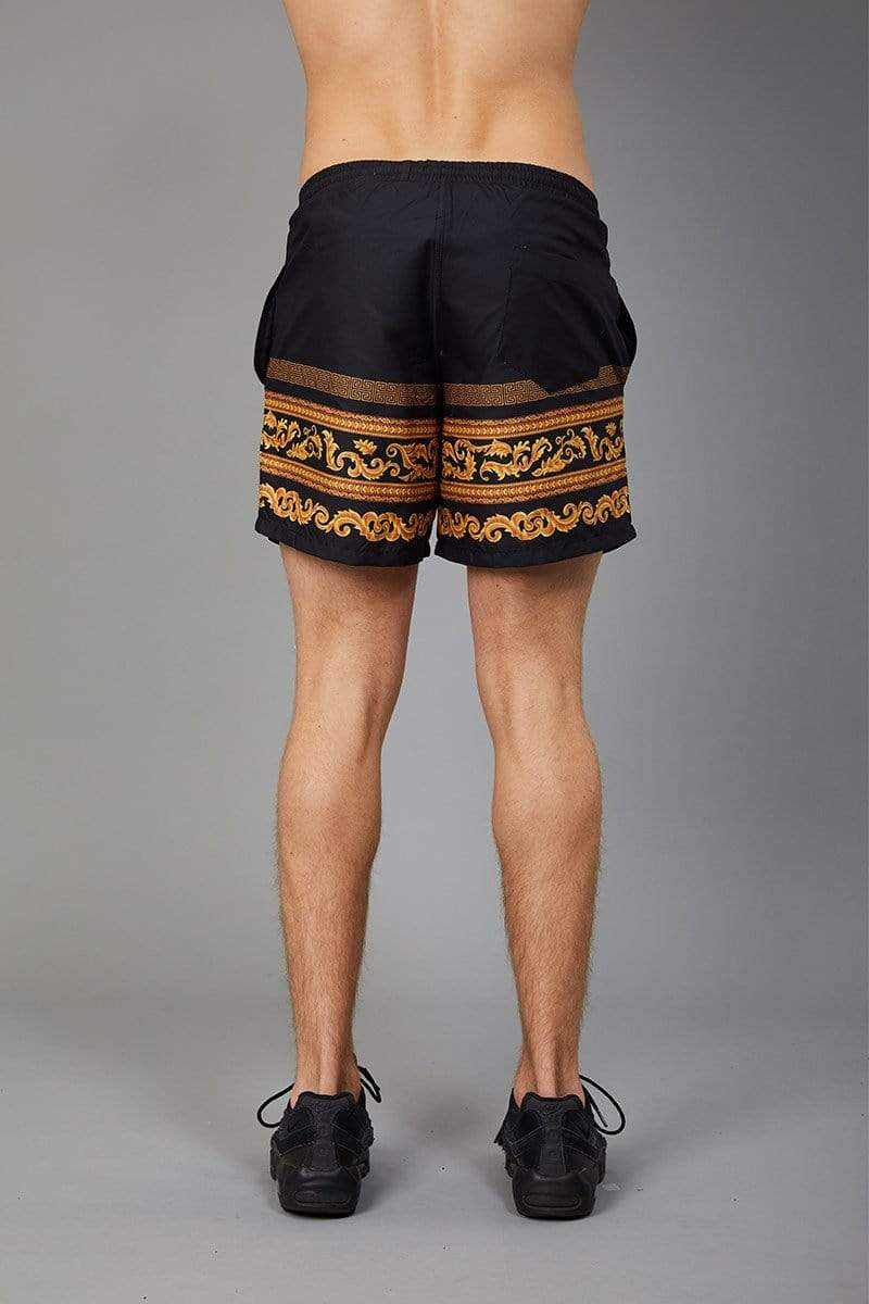 Criminal Damage SWIM SHORT Apollo Swim Short - Black/Gold