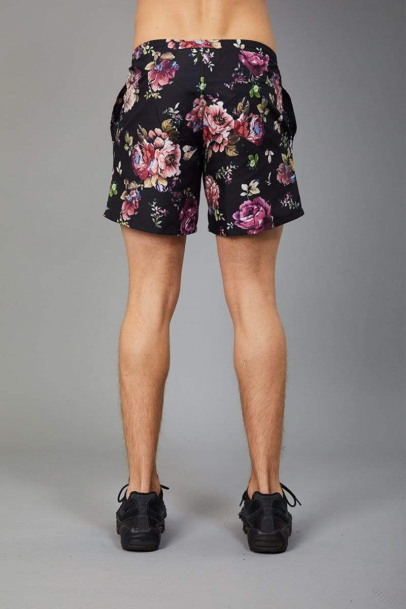 Criminal Damage SWIM SHORT Blooms Swim Short - Black/Multi