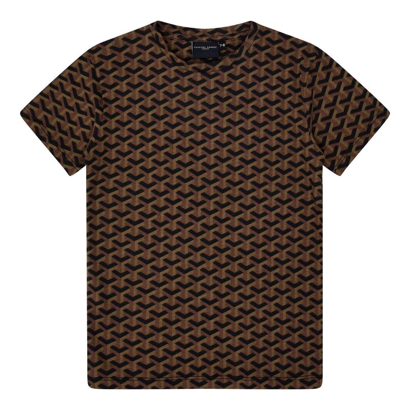 Kids Lourve Tee - Black / Brown