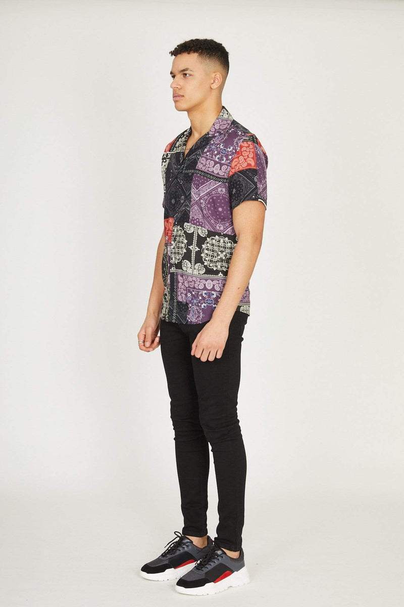 Bandana Shirt - Black/Multi
