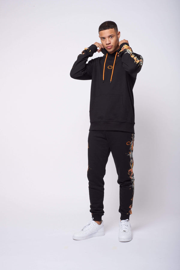Criminal Damage T-SHIRT Barb Flame Jogger - Black