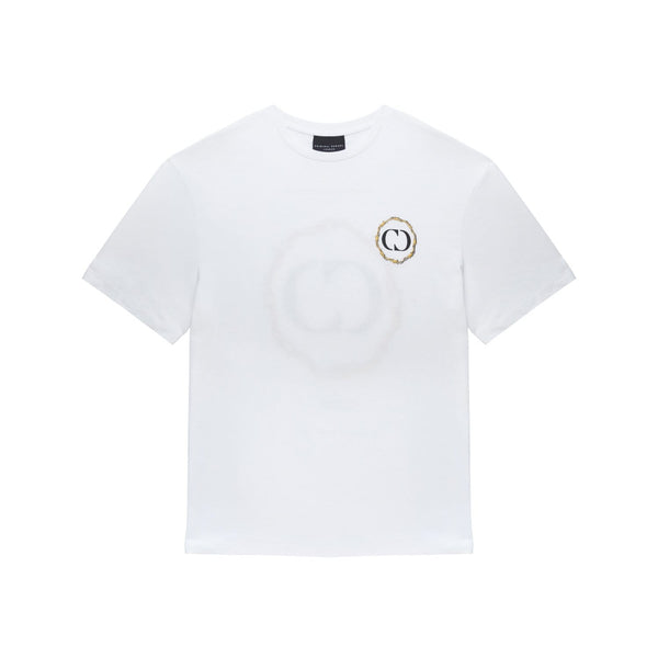 Barb Halo Embroidered Tee - White