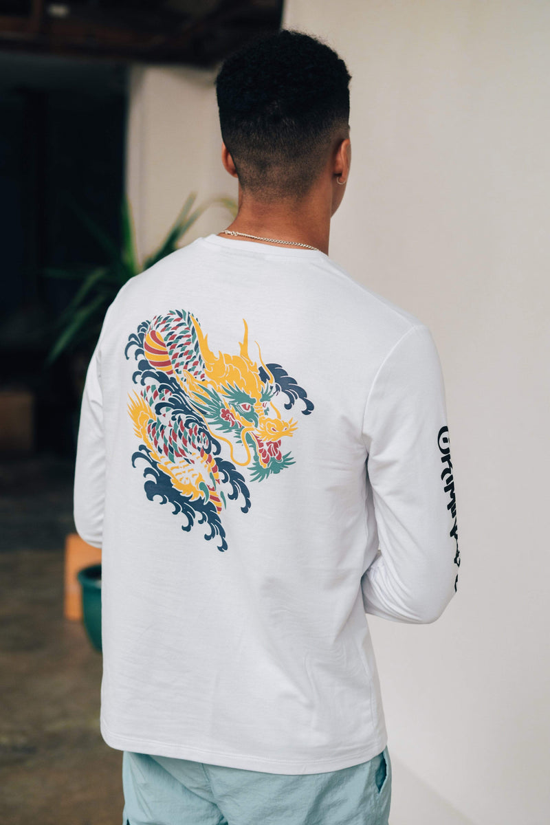 Dragon Skate LS Top - White