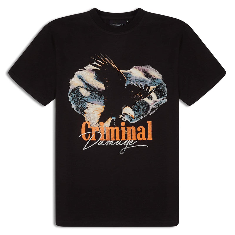 Criminal Damage T-SHIRT Eagle Hunter Tee - Black