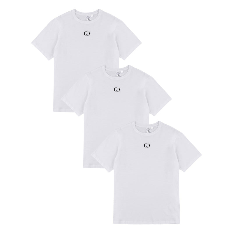 Criminal Damage T-SHIRT ECO ESSENTIAL 3 PACK TEE - WHITE
