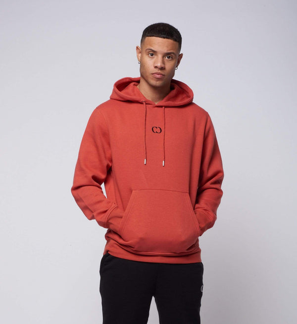Criminal Damage T-SHIRT Eco Essential Recycled Hoodie - Orange