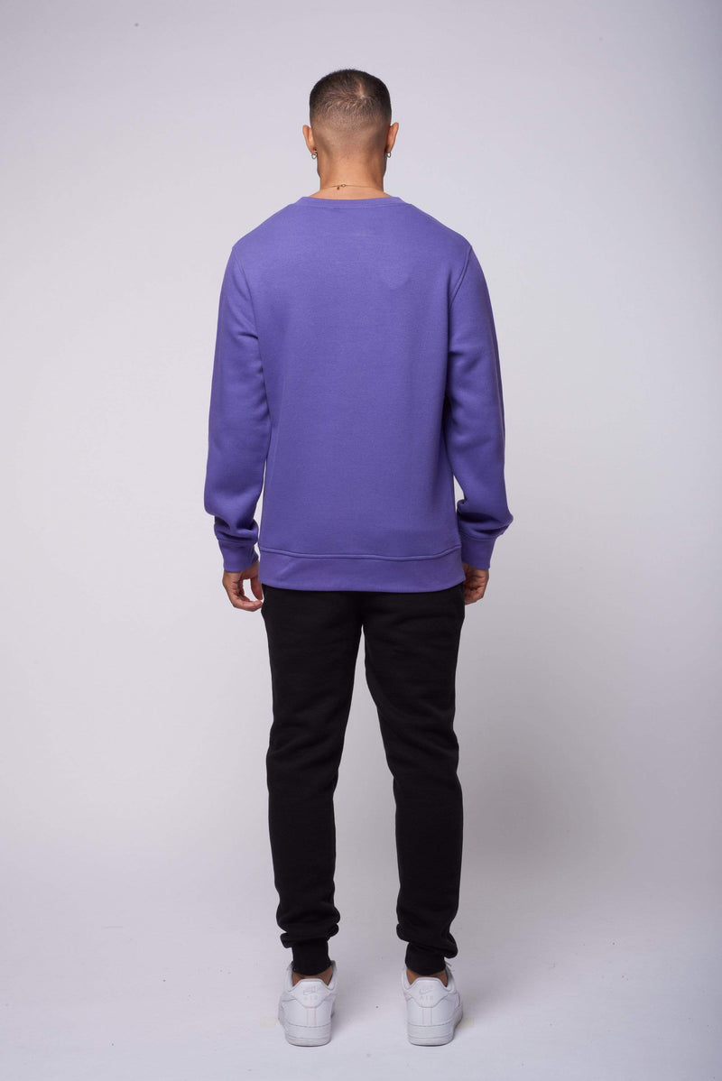 Criminal Damage T-SHIRT Eco Essential Recycled Sweatshirt - Purple