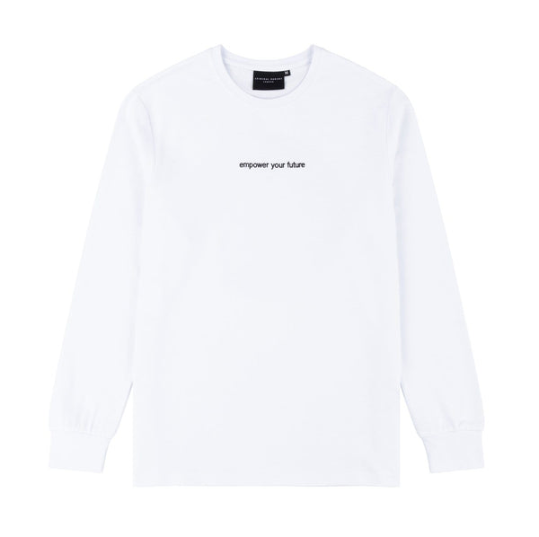 Criminal Damage T-SHIRT Fire Ice LS Top - White