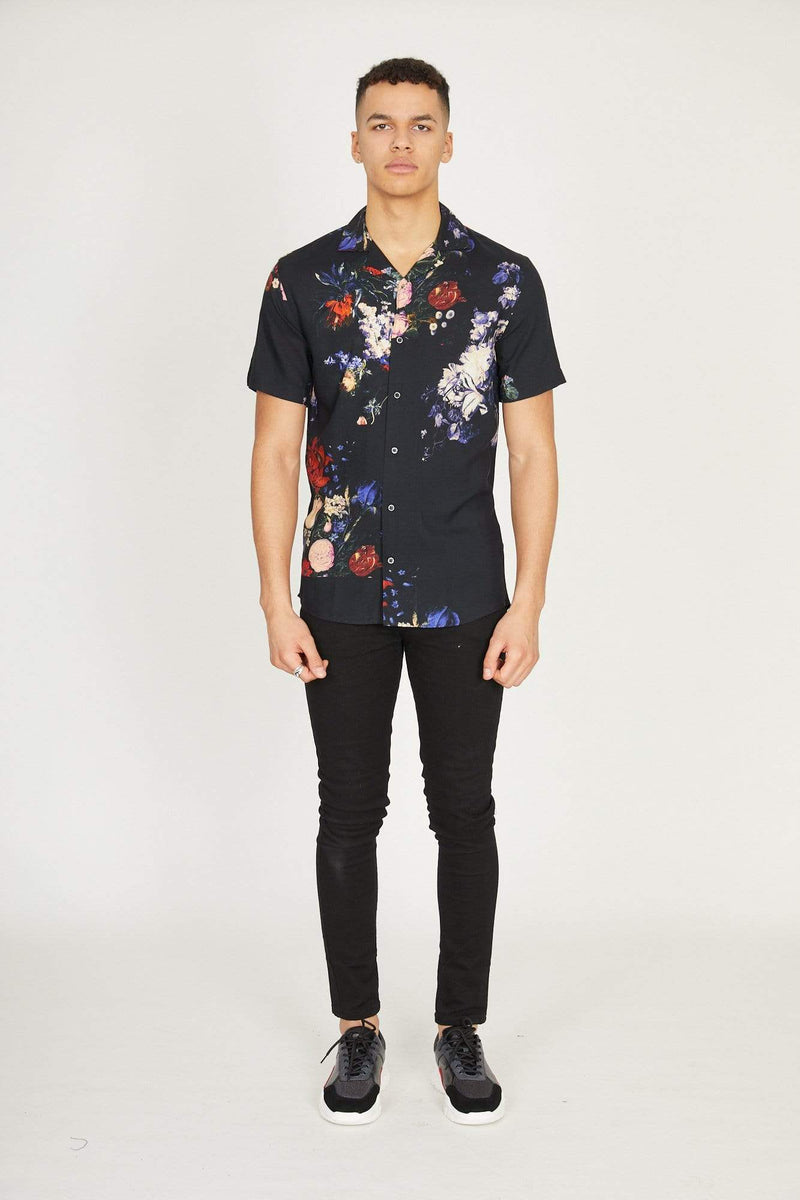 Criminal Damage T-SHIRT Floral Oil Shirt - Multi
