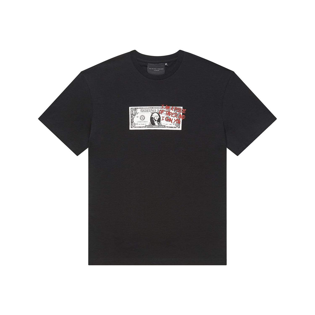 Criminal Damage T-SHIRT Greed Tee - Black