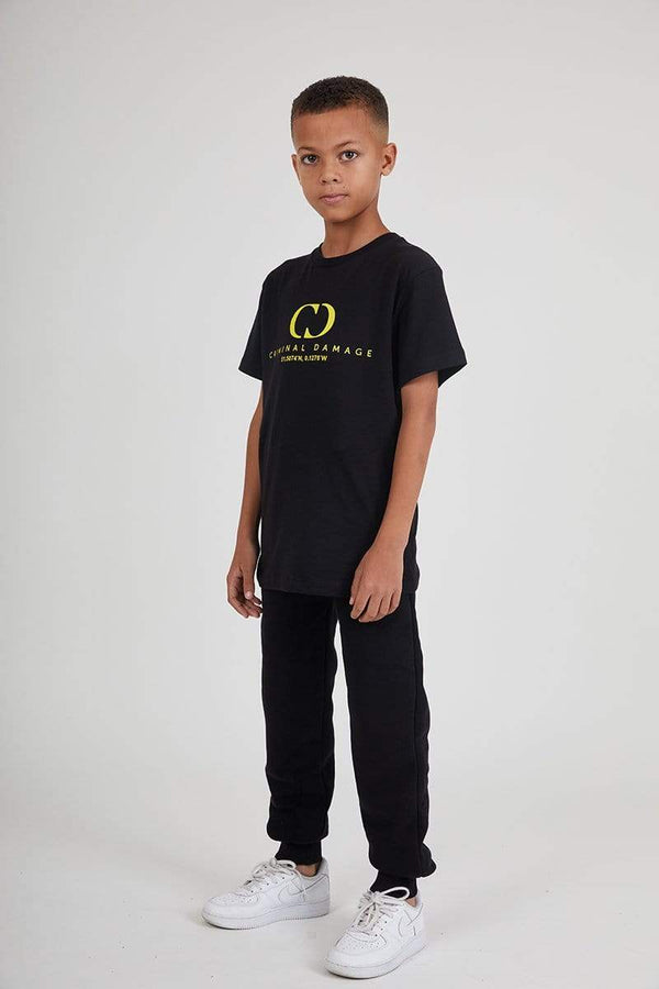 Kids Co-ordinate Tee - Black / Reflective Yellow