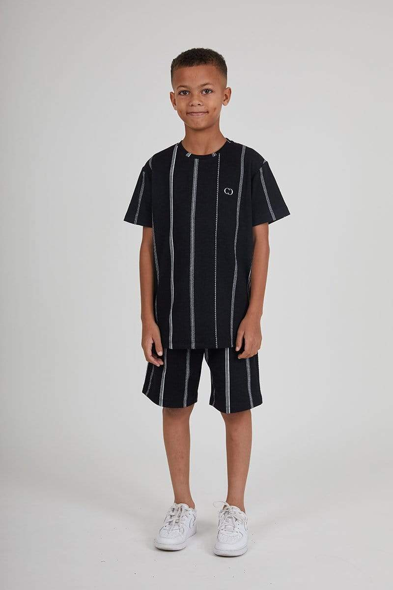 Kids Stitch Tee - Black / White