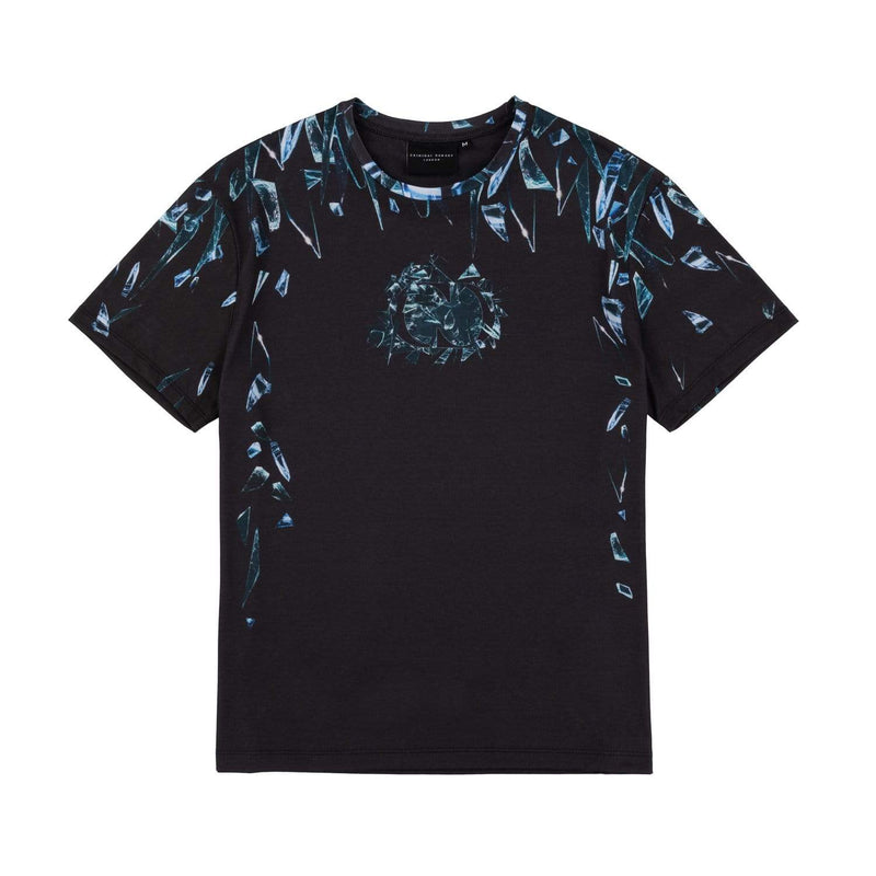 Criminal Damage T-SHIRT Shard Tee - Black