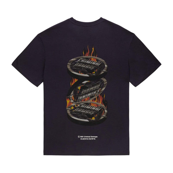 Silver Flame Tee - Purple