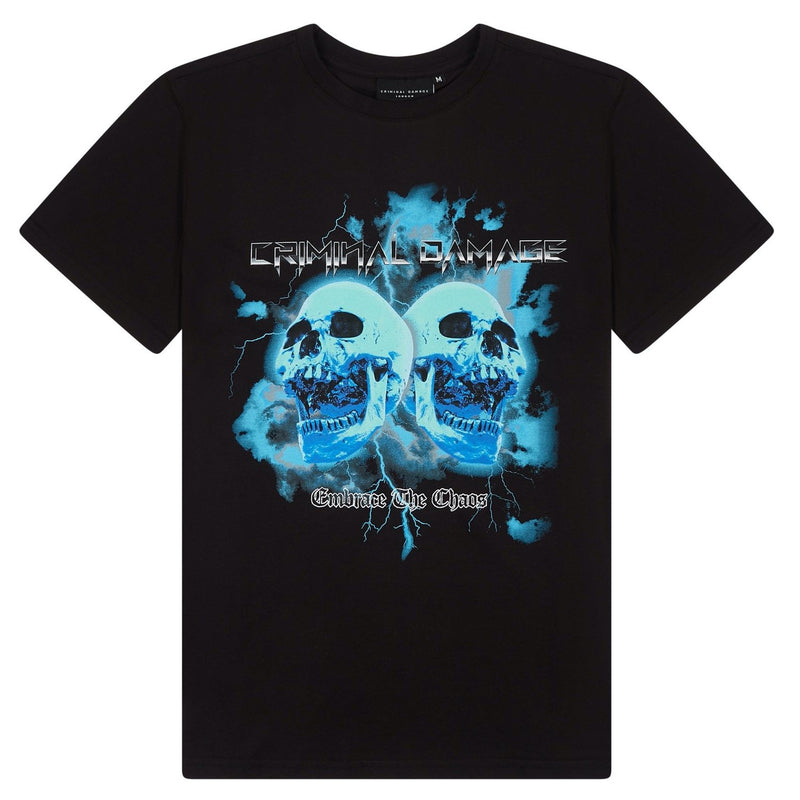 Criminal Damage T-SHIRT Skull Tee - Black