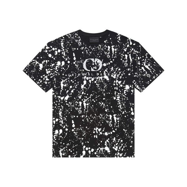 Criminal Damage T-SHIRT Splatter Tee - Black