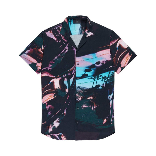 Swirling Palms Shirt - Black