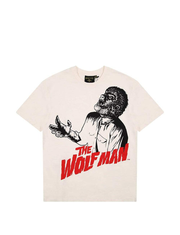 Criminal Damage T-SHIRT The Wolfman Tee - Off-White