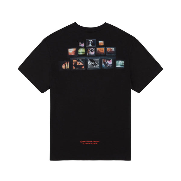 Criminal Damage T-SHIRT TV Revolution Tee - Black