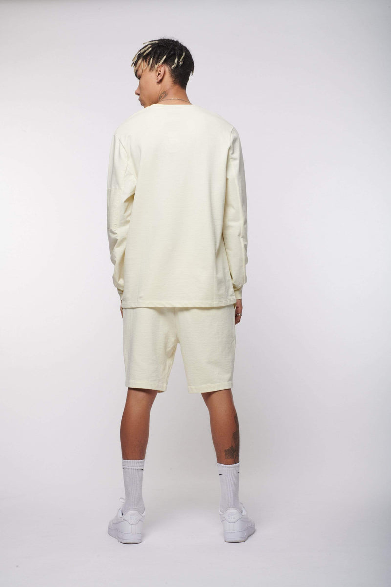 Criminal Damage T-SHIRT UTILITY PANEL LS TOP - BEIGE