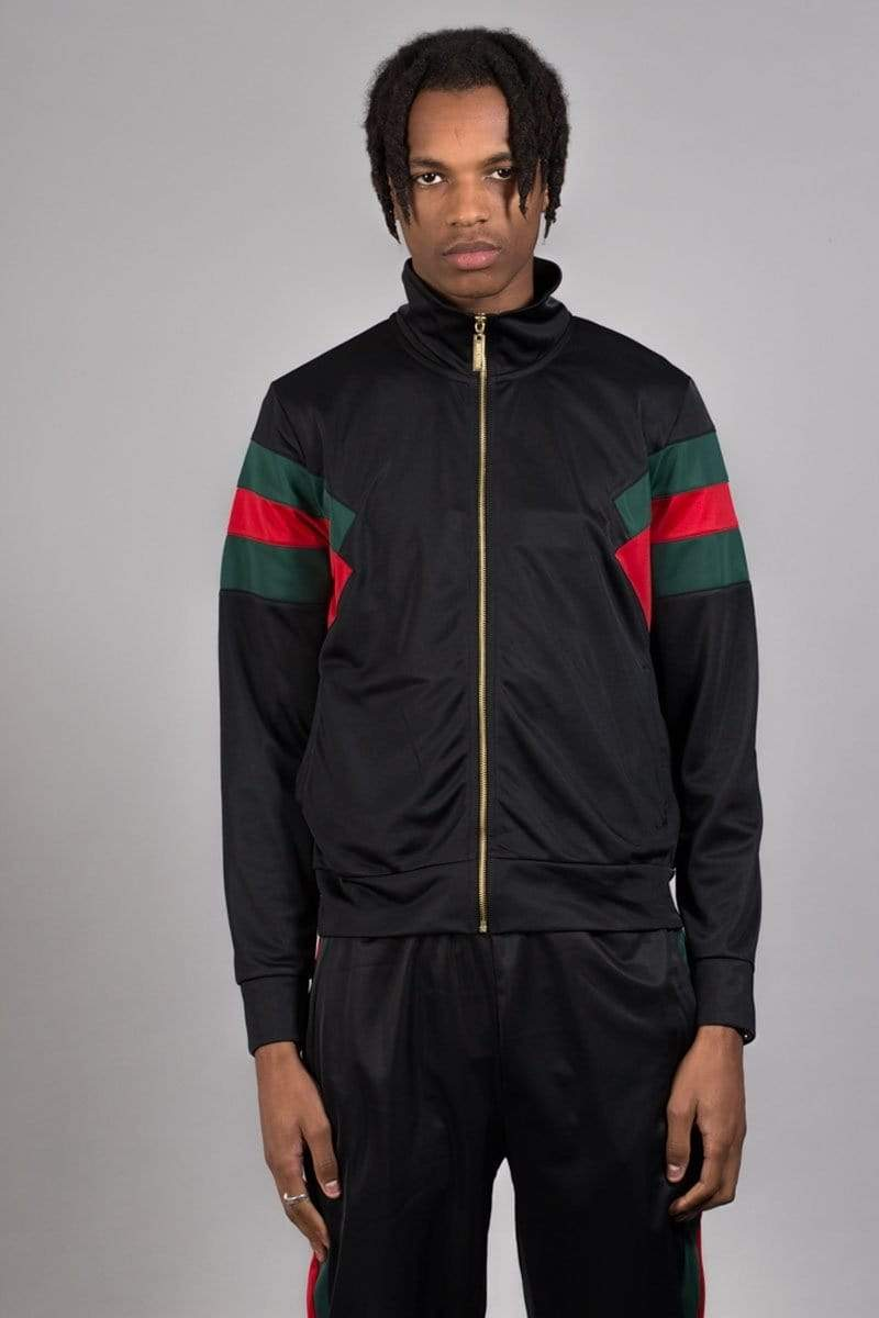 Criminal Damage TRACKTOP Cuccio Track Top - Black/multi