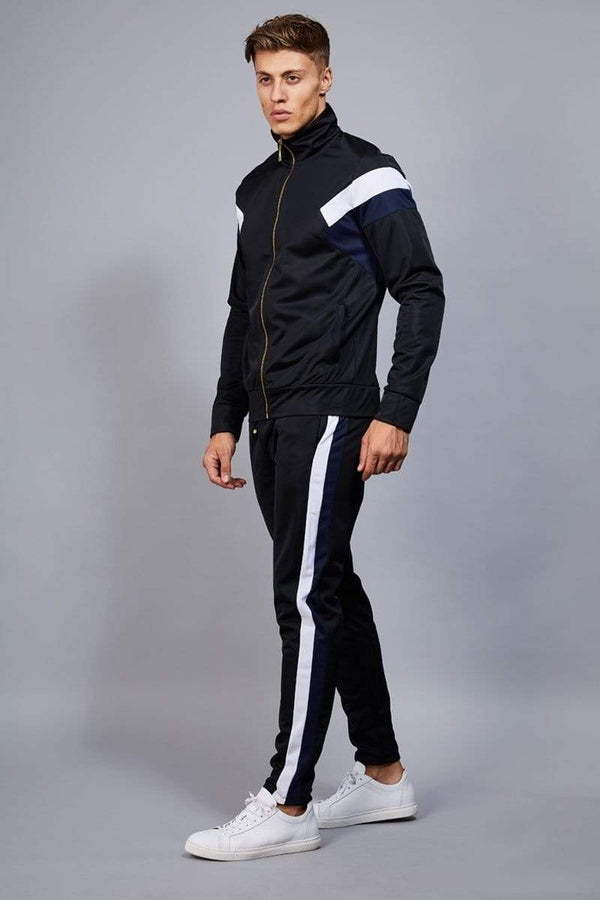 Criminal Damage TRACKTOP Cuccio Track Top - Black/ Navy