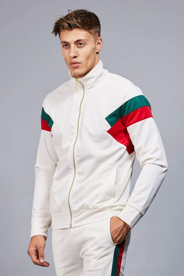 Criminal Damage TRACKTOP Cuccio Track Top - White/Multi