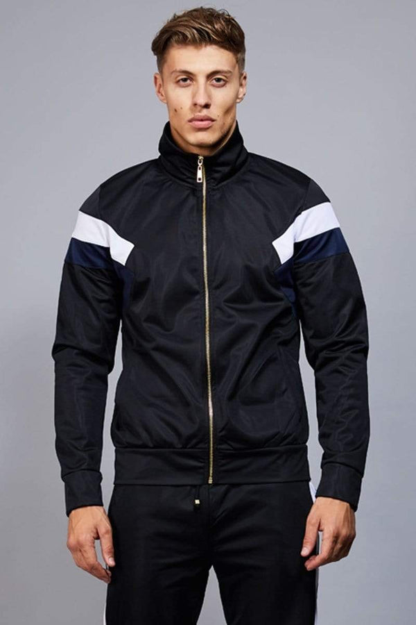 Criminal Damage TRACKTOP Navy / XS Cuccio Track Top - Black/ Navy