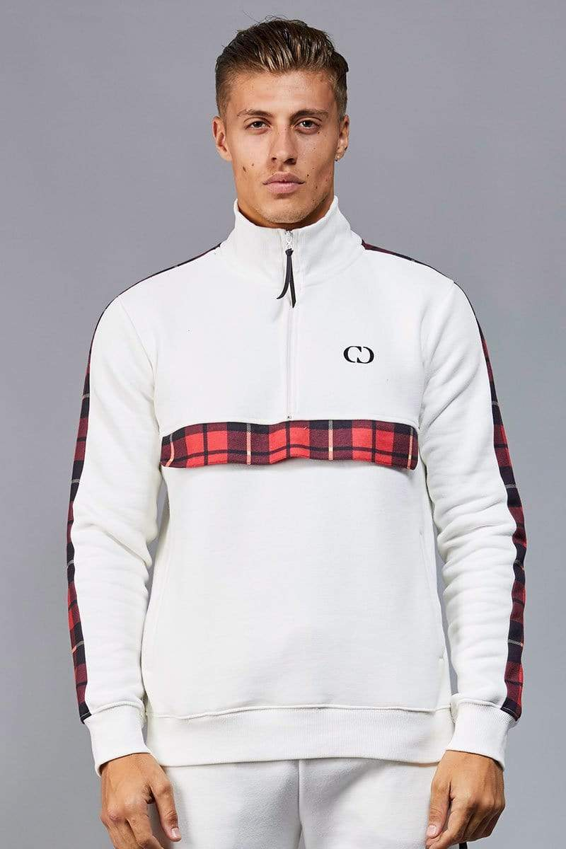 Criminal Damage TRACKTOP Off white / XS Check Globe Track Top
