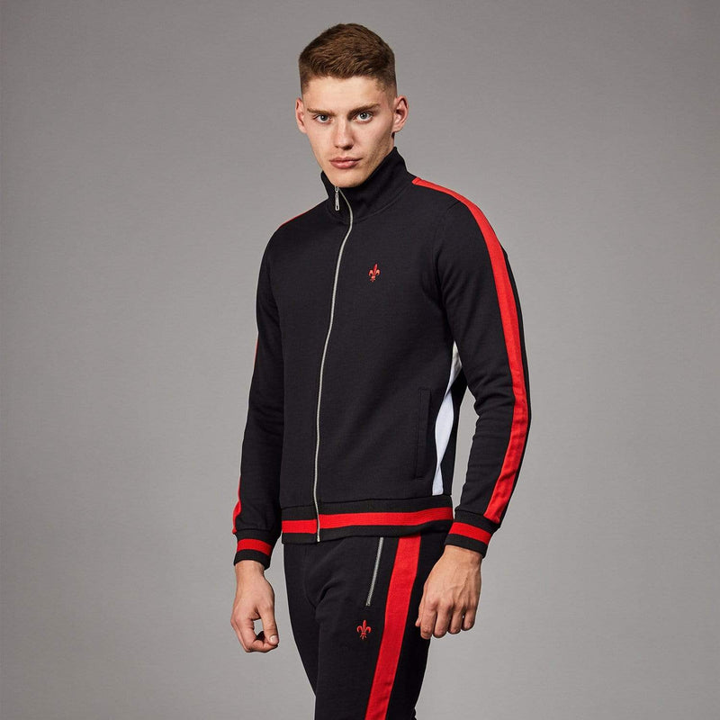 Roman Track Top - Black/ Multi