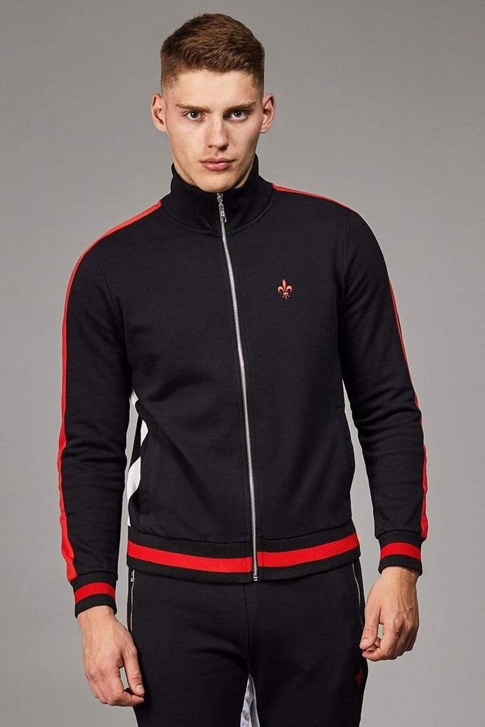 Criminal Damage TRACKTOP Roman Track Top - Black/ Multi