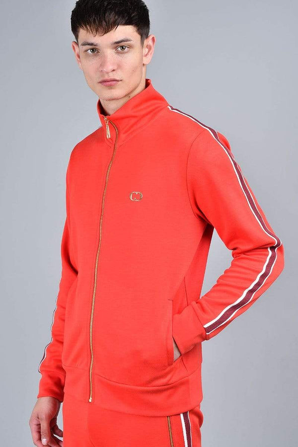 Criminal Damage TRACKTOP Wise Track Top - Red