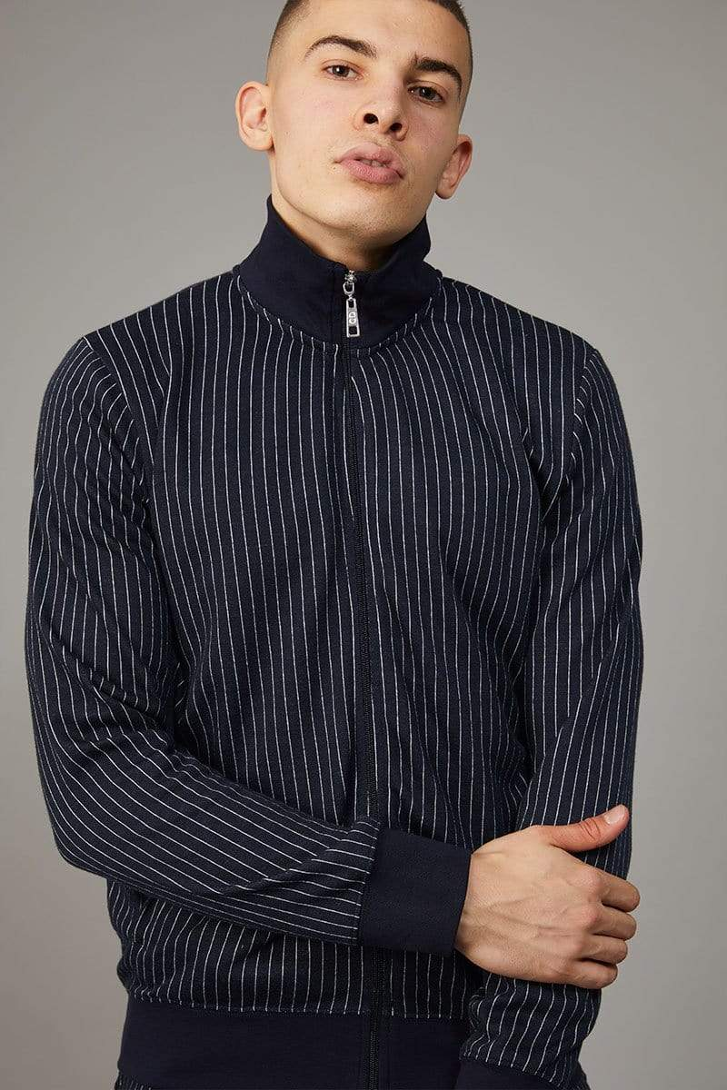 Criminal Damage TRACKTOP XS / Navy Pinstripe Track Top