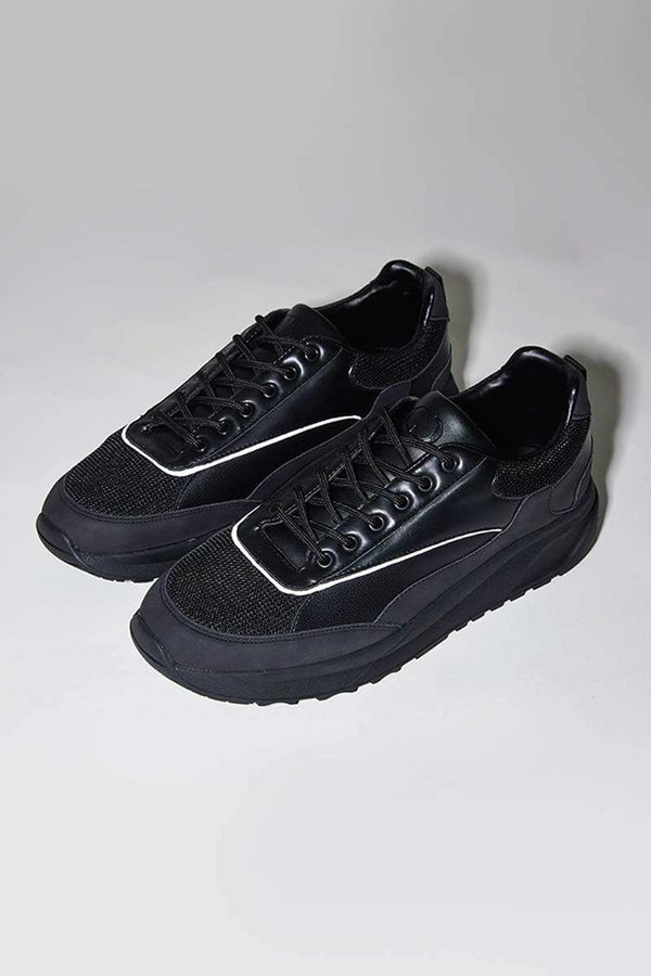 Criminal Damage TRAINERS Cruise Trainers- Black