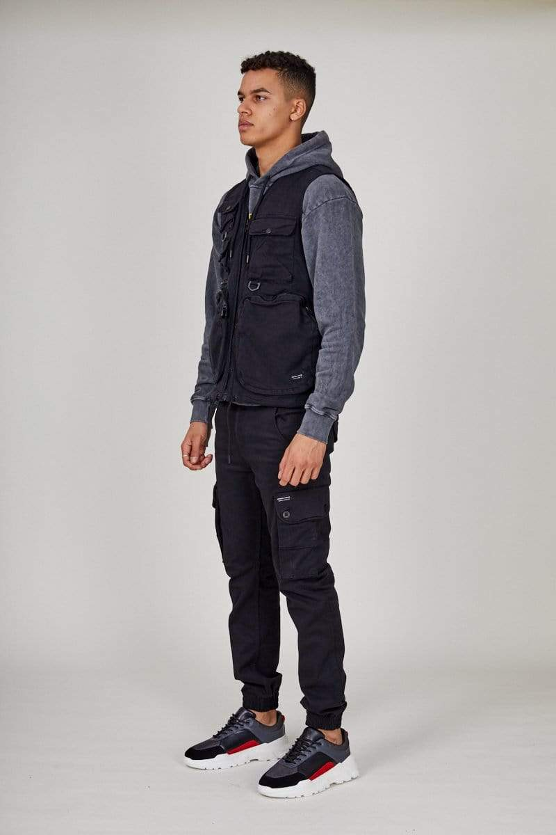 Criminal Damage VEST Cargo Vest-Black