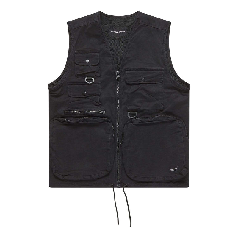Criminal Damage VEST Cargo Vest - Black