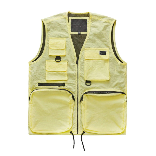 Nylon Utility Vest - Yellow