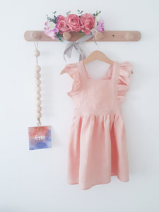 Pinafore linen dress