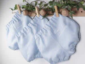 cute linen bloomers for christmas baby outfit