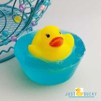 Mini Rubber Ducky Blue Soaps - 4 pack