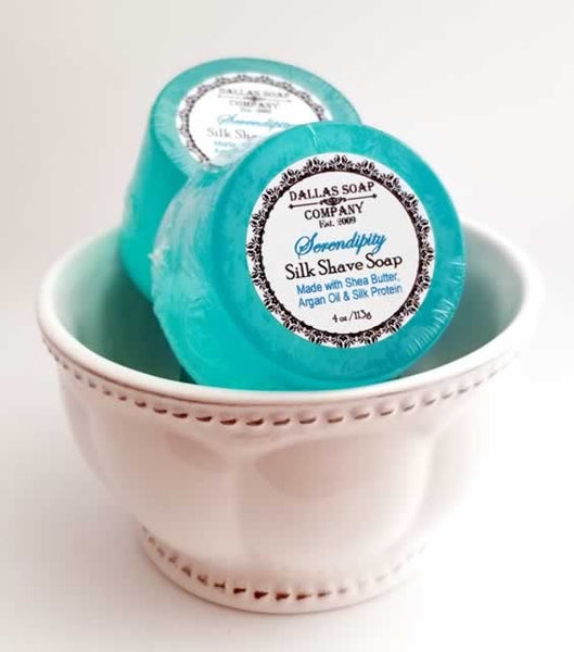Serendipity Silk Shave Soap - 4 ct