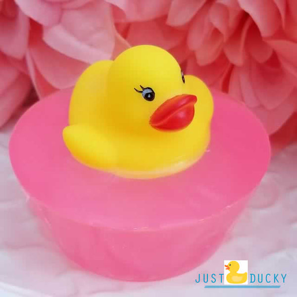 Mini Rubber Ducky Pink Soaps - 4 pack