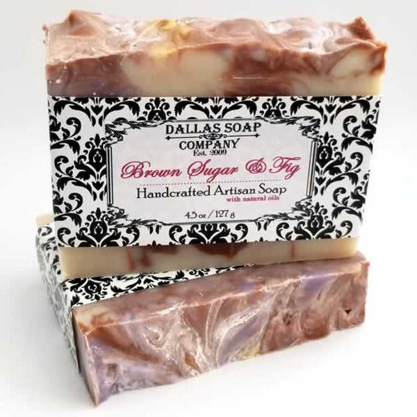 Brown Sugar & Fig Artisan Soap - 6 pack