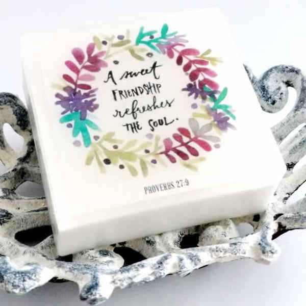 "Proverbs 27:9 ""A Sweet Friendship"" Soap - 4 pack"