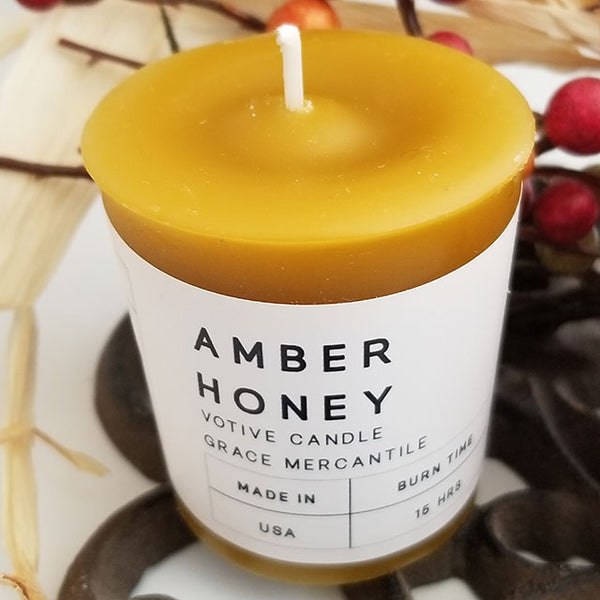 Amber Honey Votives Wholesale